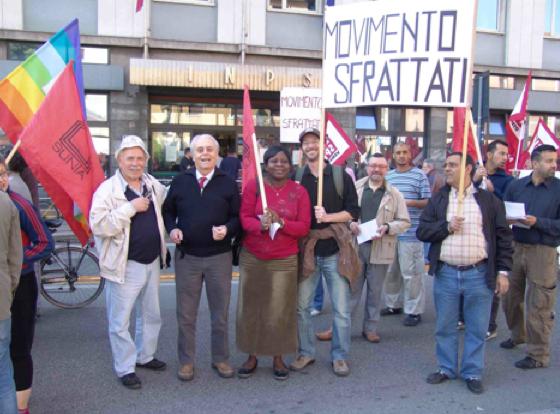 Gli Sfrattati e il SUNIA alla manifestazione dello sciopero generale